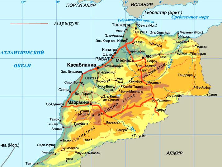 karta_marokko