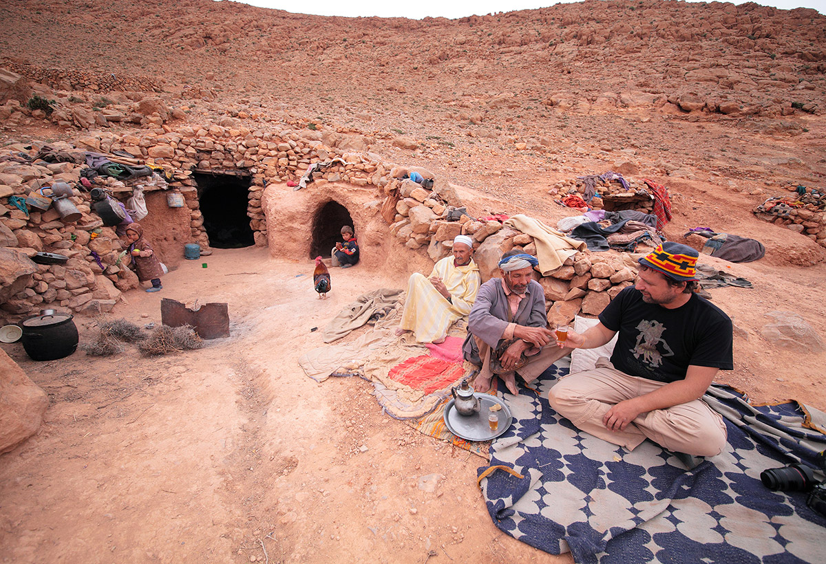 Чаепитие в гостях у берберов в атласских горах