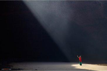 Свет на пляже Легзира в Марокко