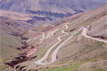 Дороги в Андах. Аргентина