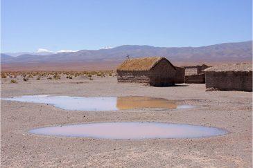 Индейская деревушка в пустыне на севере Аргентины