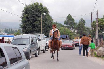 На улицах города Тафи дель Вайе. Аргентина