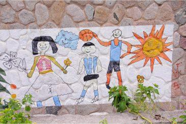 Народное искусство на школе городка Тафи дель Вайе. Аргентина