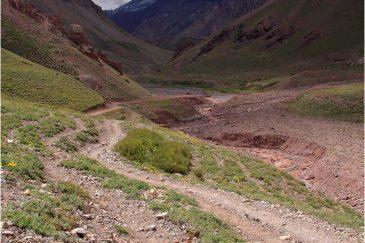 Пейзаж по дороге к горе Аконкагуа. Аргентина