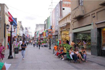 Пешеходная улица города Сальта. Аргентина