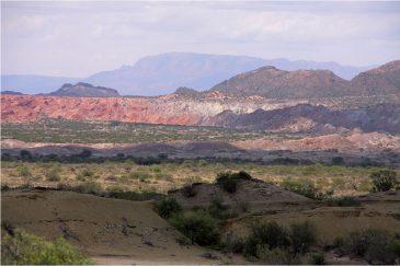 Разноцветные холмы в нац. парке Исчигуаласто (Лунная долина). Аргентина