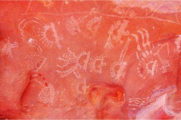 Рисунки доисторических индейцев в местечке Сьерра-Колорадо. Аргентина