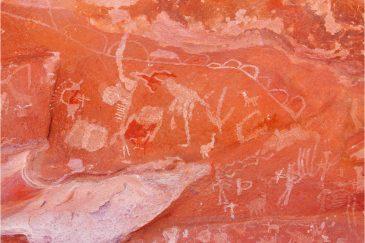 Рисунки древних индейцев в местечке Сьерра Колорадо. Аргентина