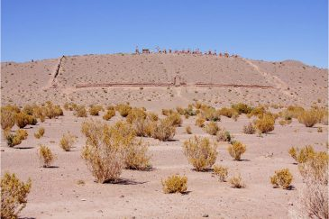 Старинное кладбище в пустыне. Аргентина