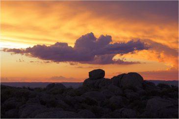 Вечерние краски над холмами Сьерра де Кордоба. Аргентина