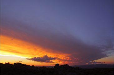Закат в степях средней Аргентины