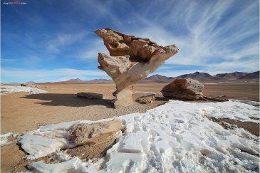 Каменный гриб в Андах. Боливия