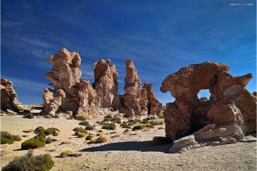 Причудливые пейзажи Южного Альтиплано. Боливия