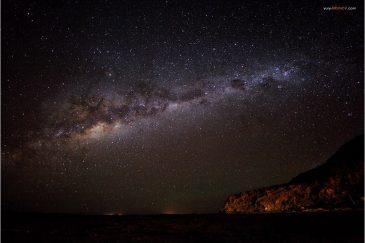 Восход Млечного пути над плато Альтиплано. Боливия