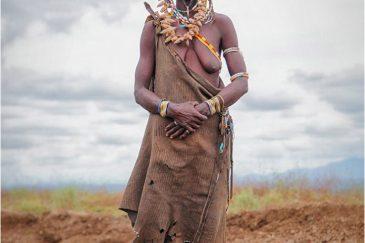 Бабушка из племени Мурси. Эфиопия