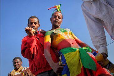 Футбольные фанаты в Аддис-Абебе. Эфиопия