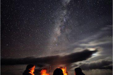 Ночные костры в горах Сымен. Эфиопия