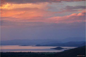 Озеро Абайя на закате