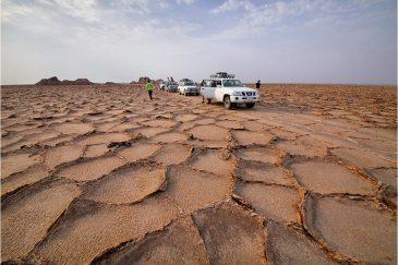 Высохшие соляные озера впадины Данакиль. Эфиопия