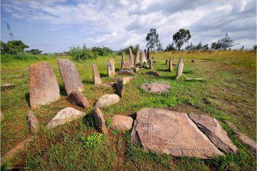 Загадочные древние плиты в местечке Тийя. Эфиопия