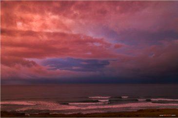 Закат над Атлантическим океаном. Марокко