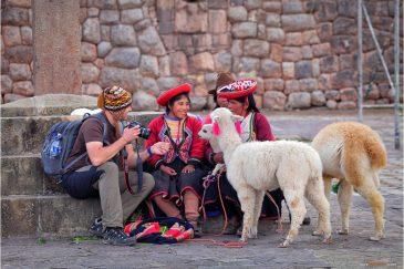Женщины народа Кечуа в Куско