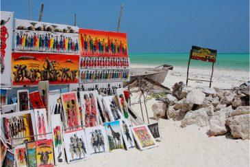 Африканское искусство на пляжах Занзибара