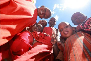 Дети масаи в деревне Лонгидо. Танзания