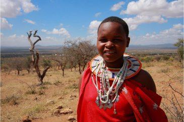 Девочка масаи в Лонгидо. Танзания