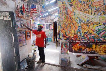Художник-растаман в городе Багамойо
