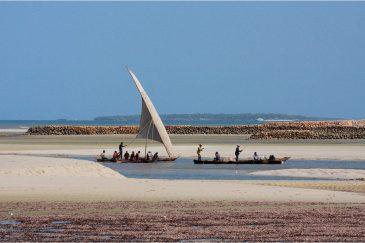 Традиционные лодки дхоу возле Дар-эс-Салама