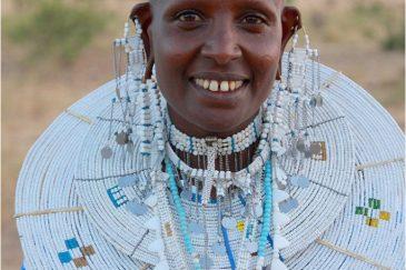 Женщина из племени масаи. Северная Танзания