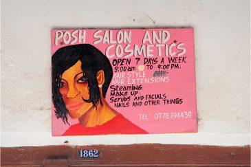 Вывеска салона красоты (Стоунтаун, остров Занзибар)