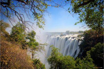 Водопад Виктория со стороны Замбии