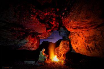 Ночь в пещере в Зимбабве