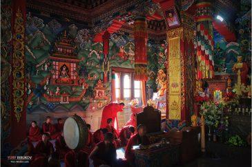 Тибетский монастырь в Бодх-Гае, месте просветления Будды (штат Бихар)