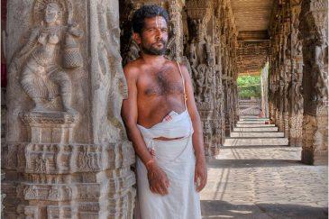 Брахман в святом городе Канчипураме. Штат Тамилнаду. Индия