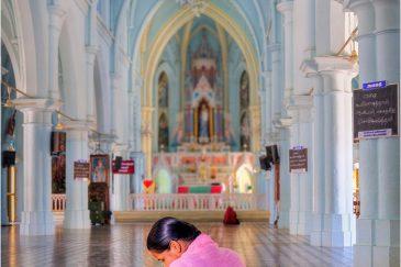 Католический собор в Каньякумари, штат Тамилнаду. Индия