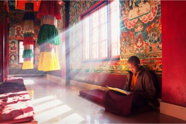 Тишина и медитация. Буддистский монастырь в Намчи, штат Сикким. Индия
