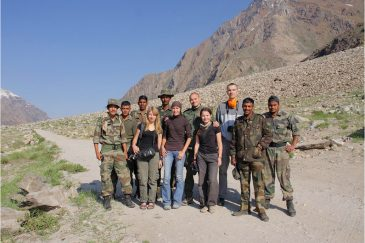 С индийскими солдатами в долине Занскар, Ладакх. Индия