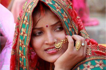 Индийские красавицы на празднике в Варанаси