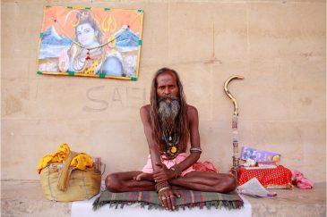 Садху в Варанаси. Индия