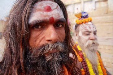Садху в святом городе Варанаси. Индия