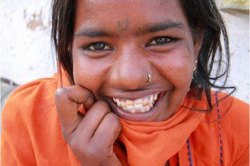 Девушка из бедной касты в Джайсалмере, Раджастан. Индия