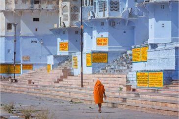 Гхаты святого города Пушкар в Раджастане