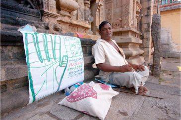 Храмовый хиромант в Чидамбараме, Тамилнаду. Индия