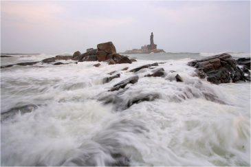 Самая южная точка Индии - Каньякумари (мыс Коморин), штат Тамилнаду. Индия