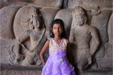 В древнем городе Мамаллапураме. Штат Тамилнаду. Индия