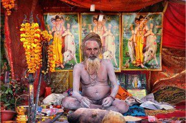 Уважаемый нага-баба. Фестиваль Кумбха Мела. Индия