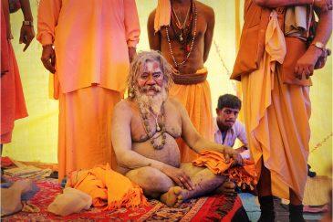 Уважаемый гуру-аскет на фестивале. Индия